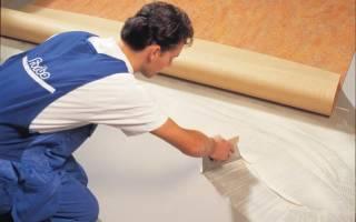 Каким клеем клеить линолеум на бетонный пол?