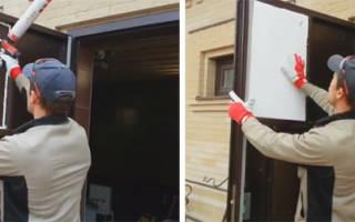 Как утеплить дверную коробку входной металлической двери?
