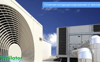 Чем отличается вентиляция от кондиционирования?