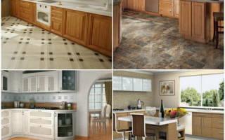Варианты напольного покрытия для кухни