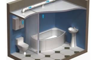 Как сделать принудительную вентиляцию в ванной комнате?