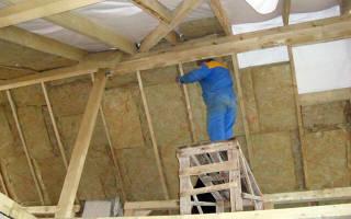 Как утеплить крышу деревянного дома изнутри?