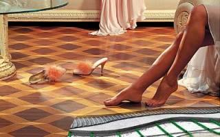 Какой линолеум можно стелить на теплый пол?