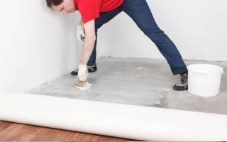Как правильно класть линолеум на бетонный пол?