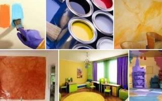 Можно ли красить оштукатуренные стены?