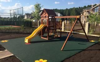 Мягкое покрытие для детских площадок на улице