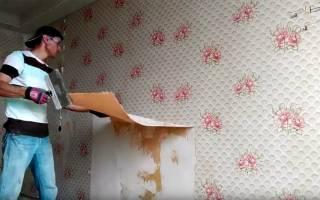 Чем очистить старые обои от стены?