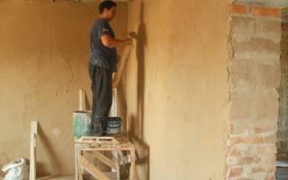 Как клеить обои на глиняные стены?