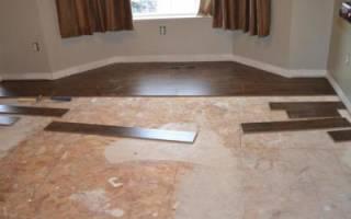 Можно ли класть ламинат на бетонный пол?