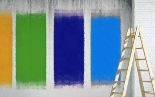 Как красить бетонные стены?