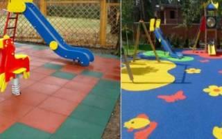 Безопасное покрытие для детских площадок