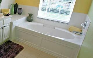 Как удлинить ванну до стены?