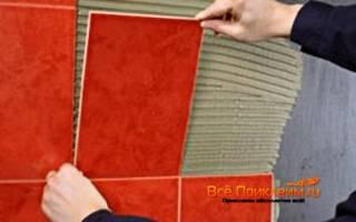 Как положить плитку на крашеные стены?