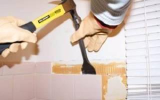 Как снять старый плиточный клей со стены?