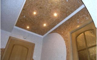 Пробковое покрытие для потолка