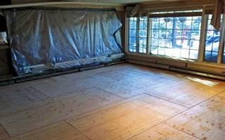 Покрытие пола фанерой на деревянный пол