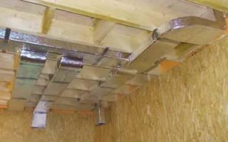Система вентиляции каркасного дома своими руками
