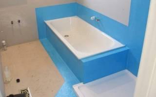 Жидкая гидроизоляция для ванной комнаты