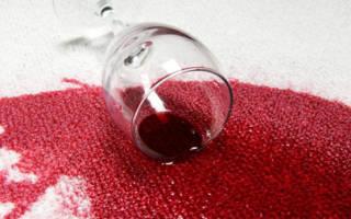 Чем оттереть вино от обоев?