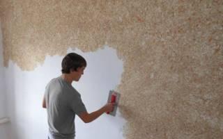 Как накладывать жидкие обои на стены?