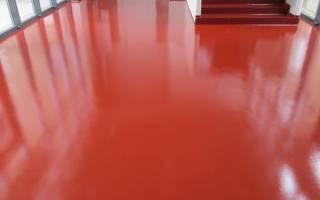 Покрытие бетона резиновой краской