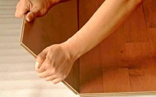 Как монтировать ламинат на пол?